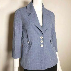 See by Chloe 3/4 Sleeve A-Line Blazer Jacket, SZ 4